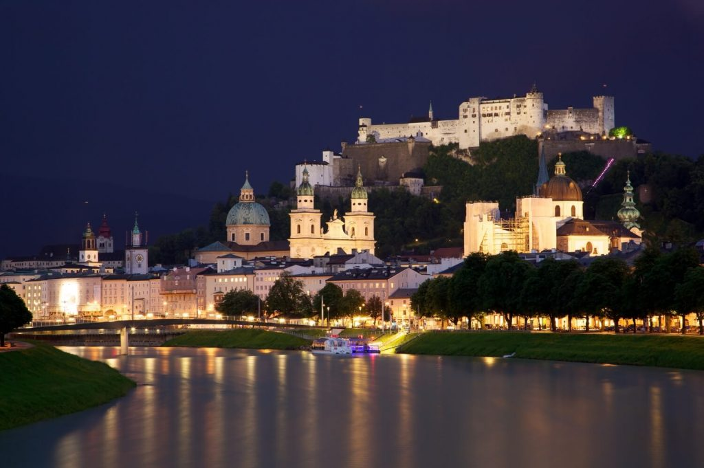 Old Town Salzburg across the Salzach river Jiuguang Wang